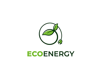 Eco energy source logo