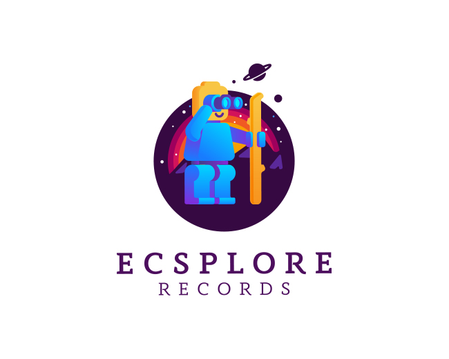 Ecsplore Records Logo Design