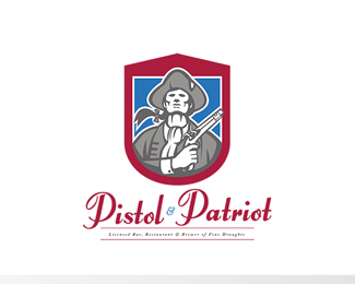 Pistol and Patriot Fine Draught Brewer Logo