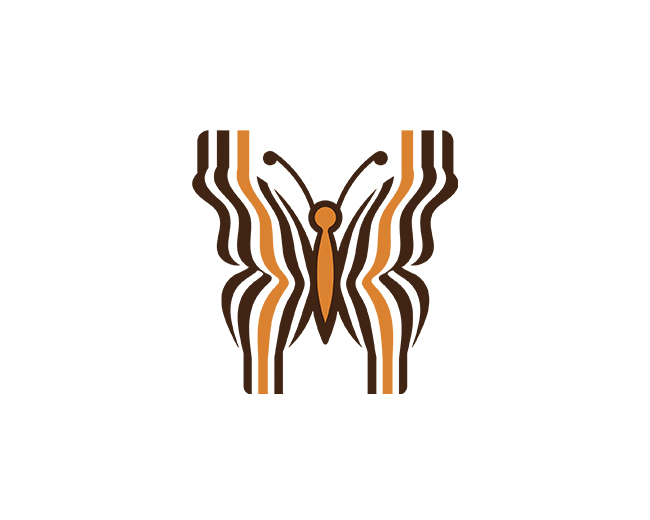 Bee Butterfly Barcode Logo