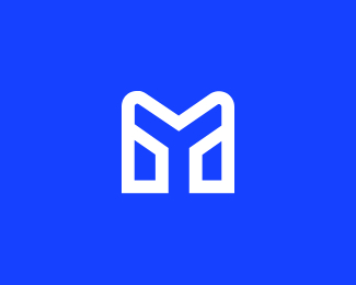 mobityze m letter line logo icon
