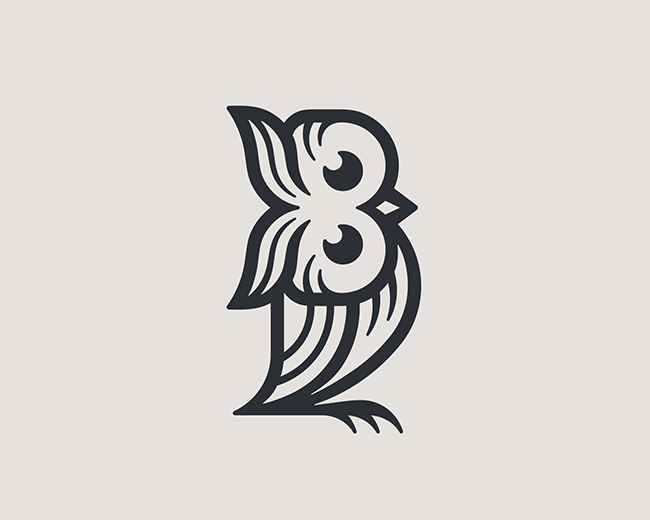 B Owl 📌 Logo for Sale