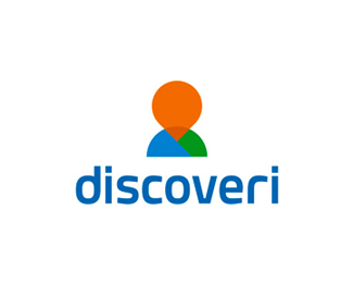 Discoveri, location app logo design