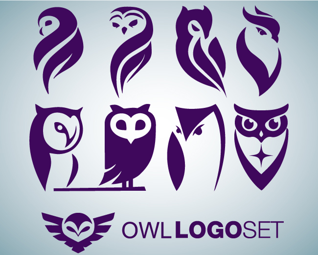 owl logo set 1