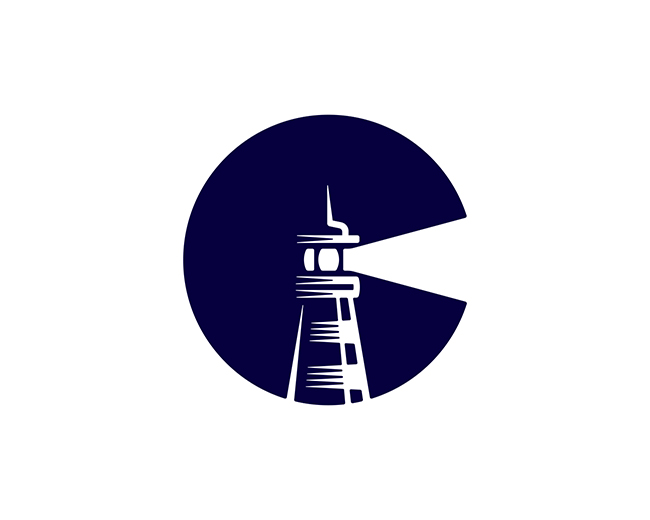 Letter C Lighthouse 📌 Logo for Sale