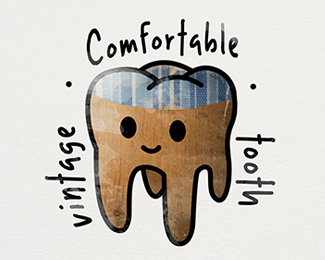 Comfortable tooth, style vintage!