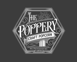 The Poppery Logo | craft popcorn - Florida