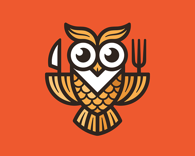 Feast Owl 📌 Logo for Sale