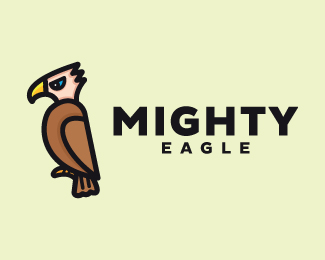 Cool Eagle Mascot Cartoon Logo Design