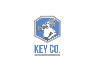 Key Co Locksmith and Key Cutting Logo