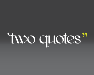 two quotes''
