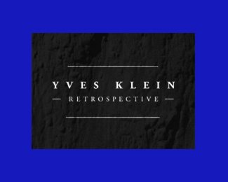 Ives Klein Retrospective Exhibition