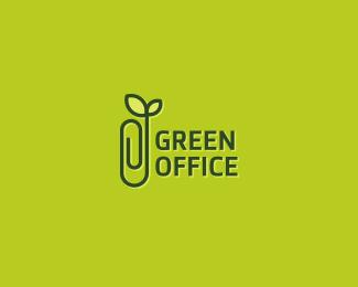Logo design inspiration #26 - Green Office by Viktor