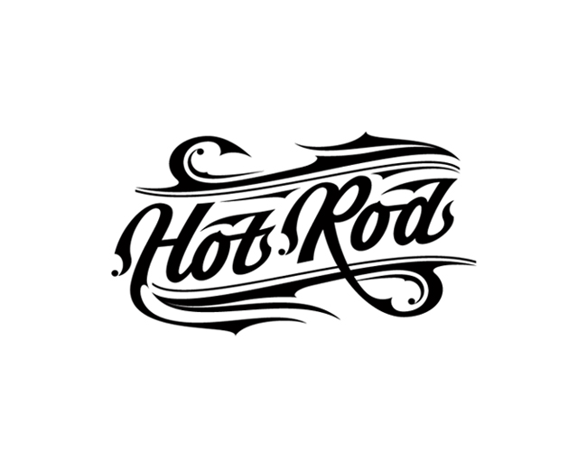 Hot Rod Oil Beer - Lettering