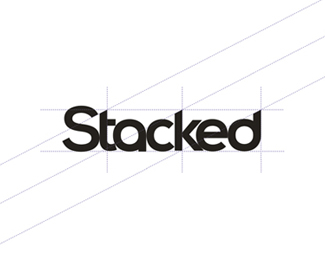Stacked fitness / gym app logo design