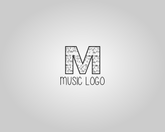 Letter M music logo art design