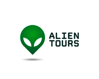 Alien Tours logo design