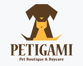 Petigami Pet Boutique & Daycare Logos for Sale