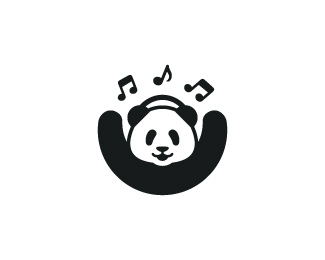Panda + Headphone