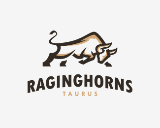 Raging Horns Bull Logo
