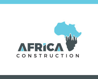 Africa construction logo vector
