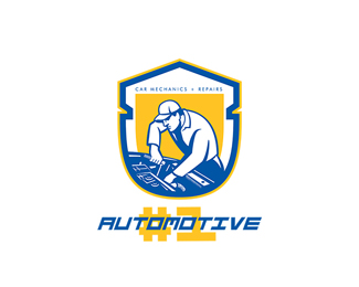 Automotive Car Mechanics and Repairs Logo