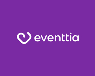 Eventtia, events creative technology, logo design