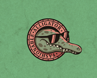 Fashionable alligator