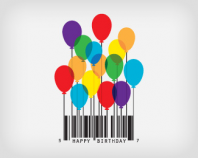 Happy B-Day Barcode