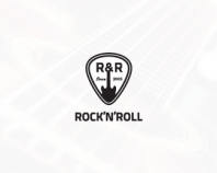 Rock'n'roll music shop logo