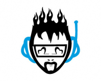Flaming headphones